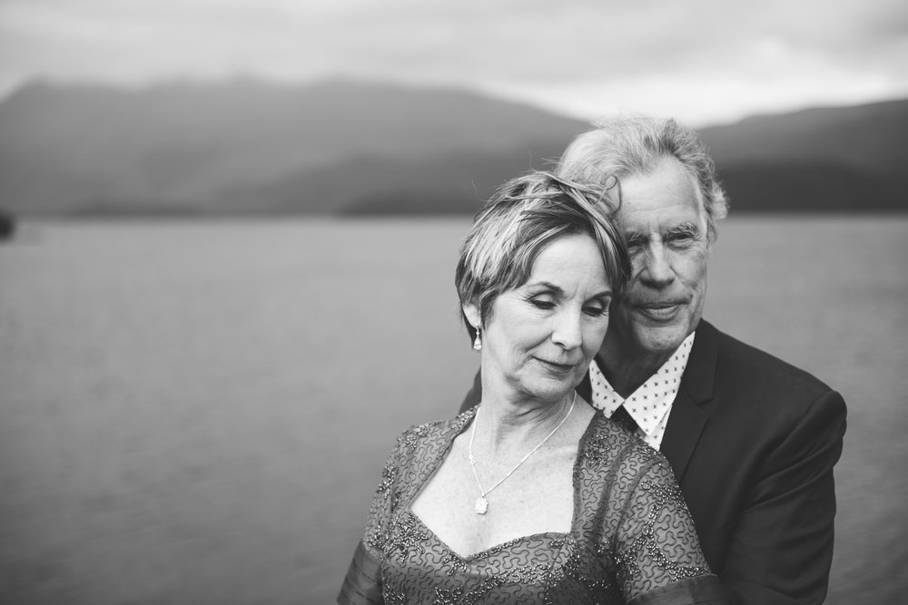 Wedding couple in Luss Scotland