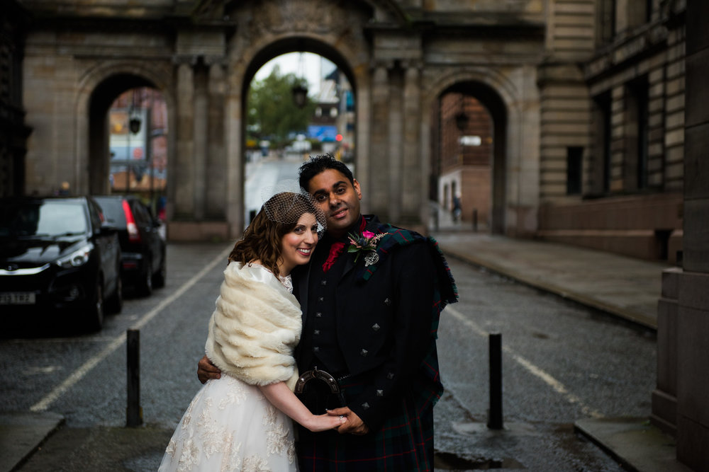 Glasgow Wedding bride and groom