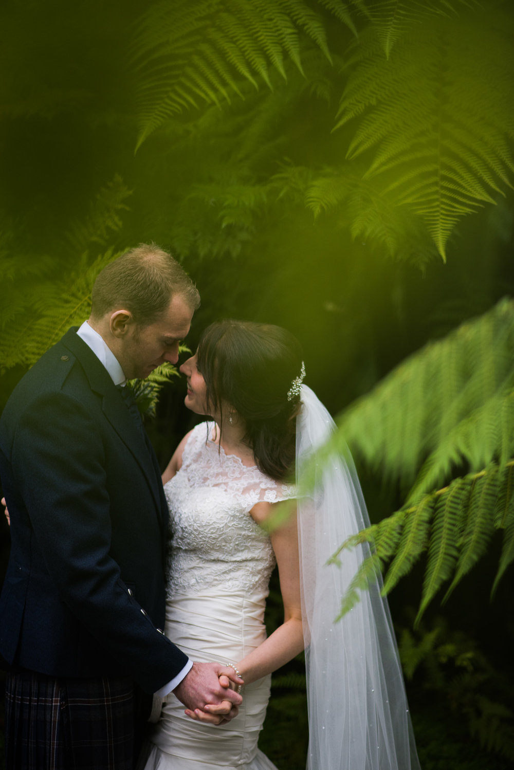 Glasgow Botanics Bride and Groom