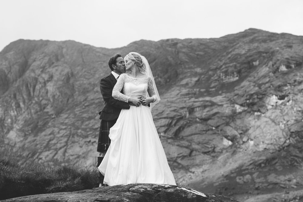 Bride and Groom at Loch Coruisk Skye