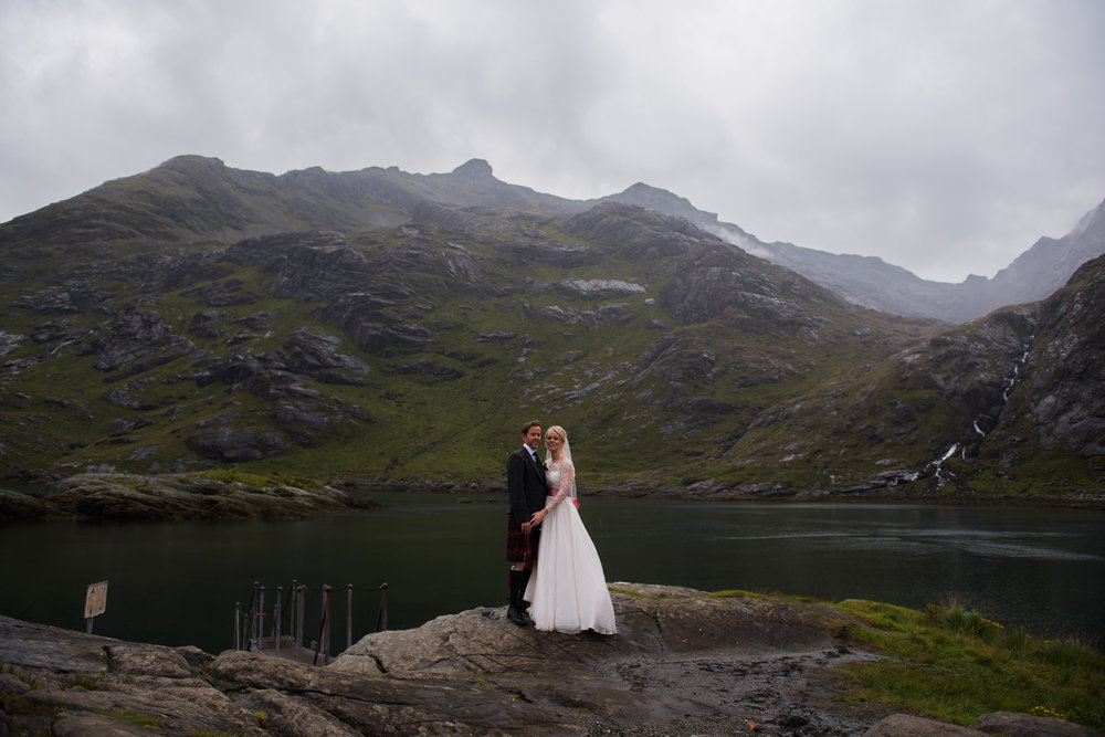 Skye Elopement at Loch Coruisk
