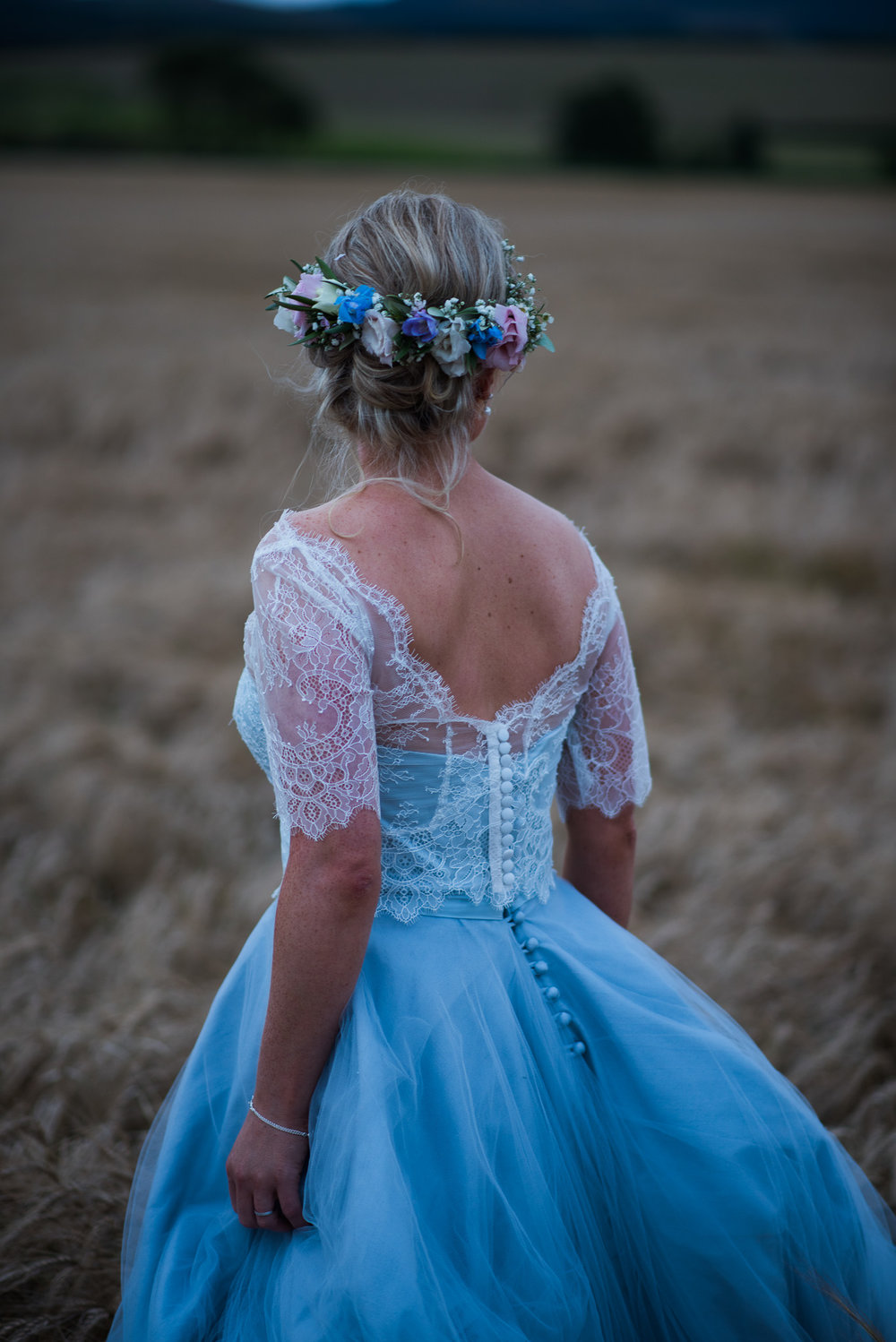 Flossy & Dossy wedding dress at Dalduff Farm
