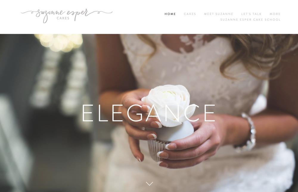 Suzanne Esper Cakes Website Homepage Example