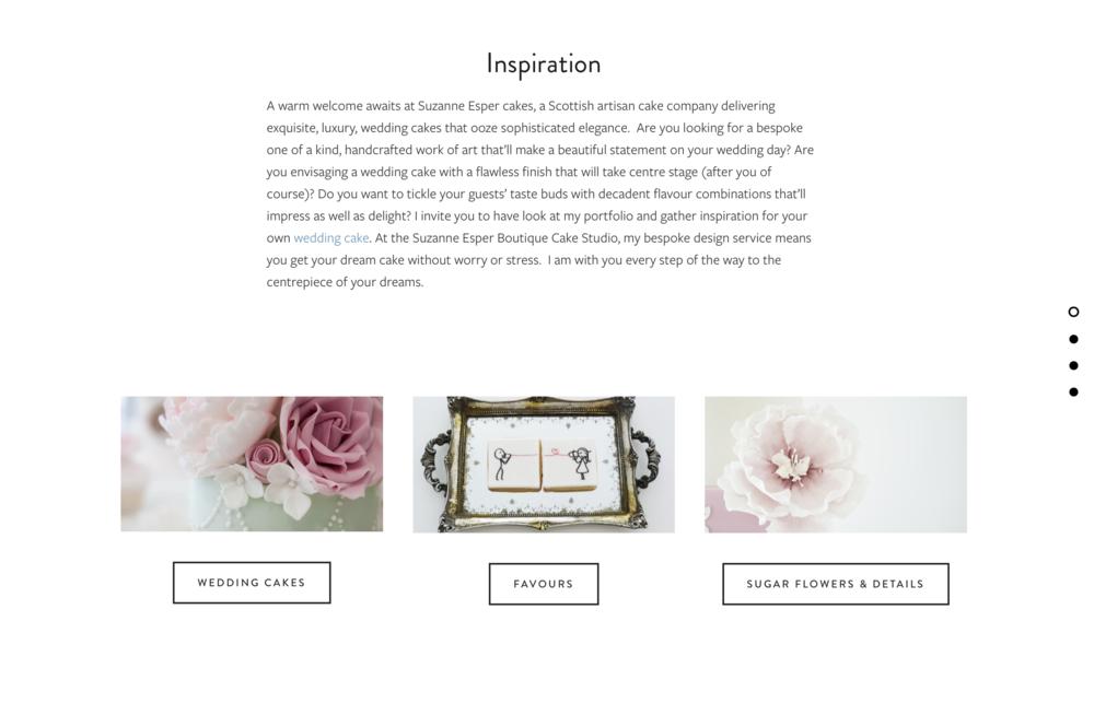 Suzanne Esper Cakes Website Example
