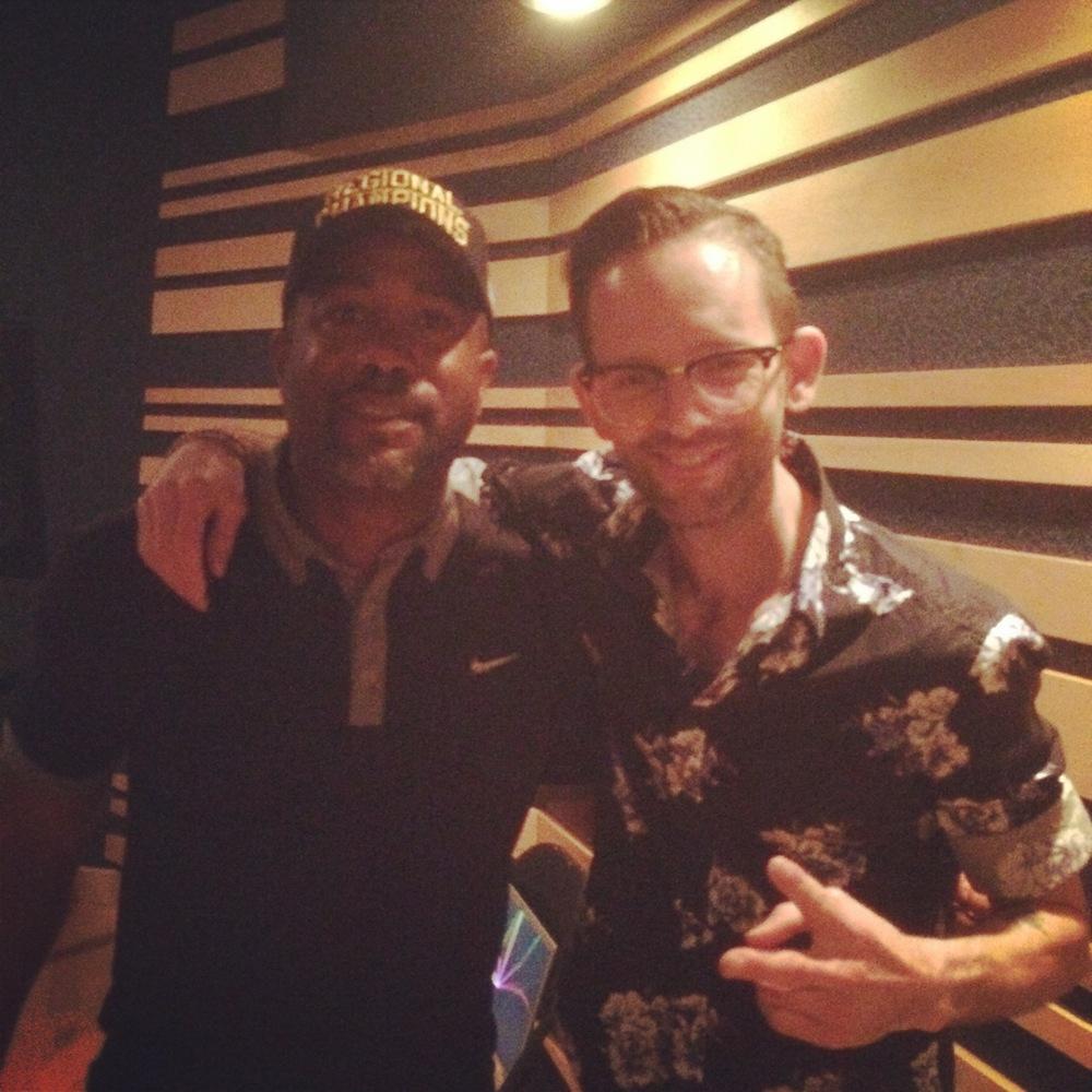 In the studio with Darius Rucker