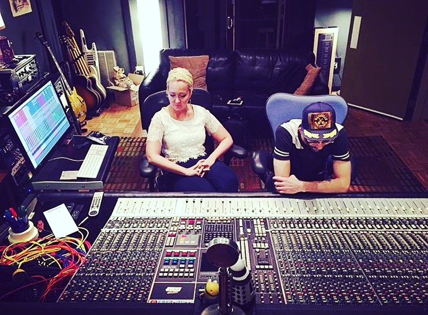 in the studio with Meghan Linsey