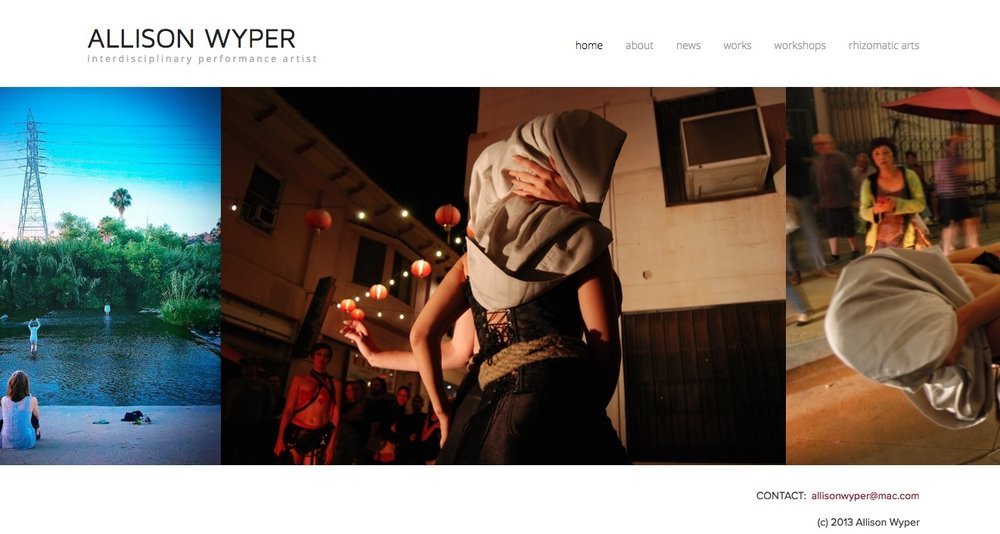 My first Squarespace project was my own artist portfolio.  Visit this site.