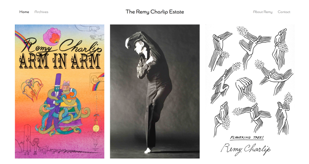 The Remy Charlip Estate  and archive.    Visit this site.