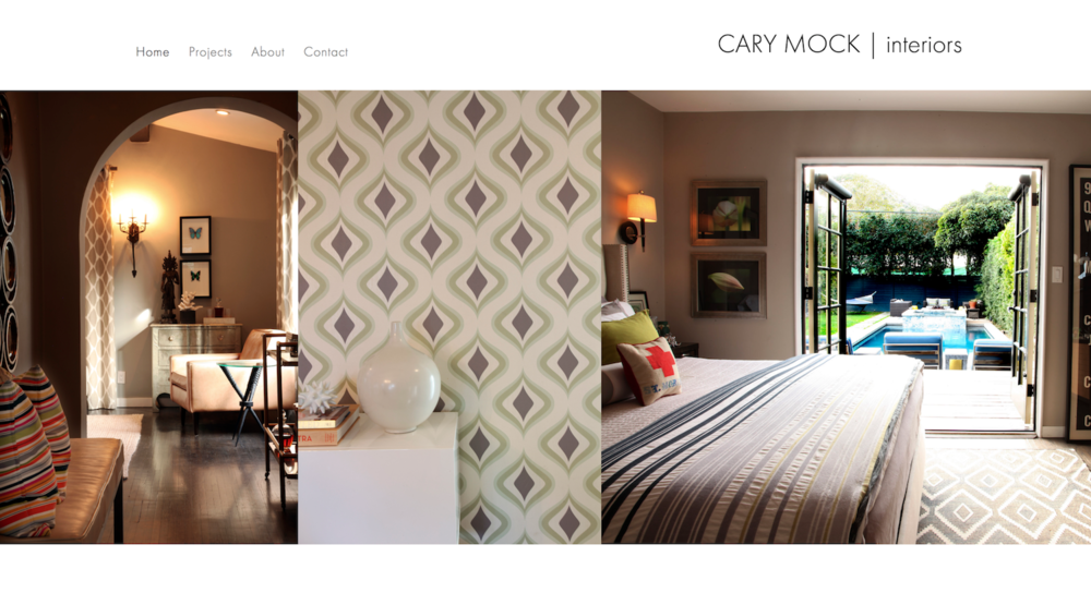 Los Angeles interior designer  Cary Mock .  Visit this site.