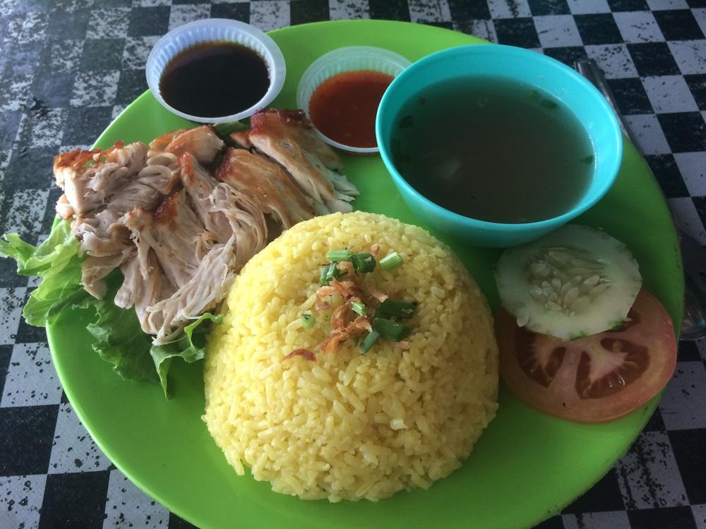 Nasi Ayam (típico malayo)