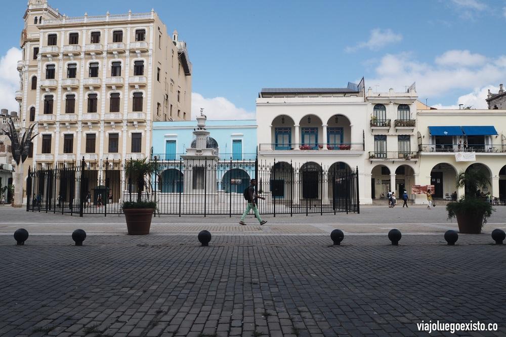 Plaza Vieja en La Habana Vieja.