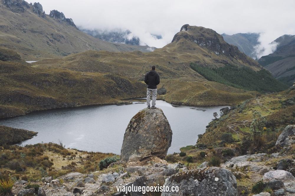 En el increíble Parque Nacional Cajas, Ecuador.