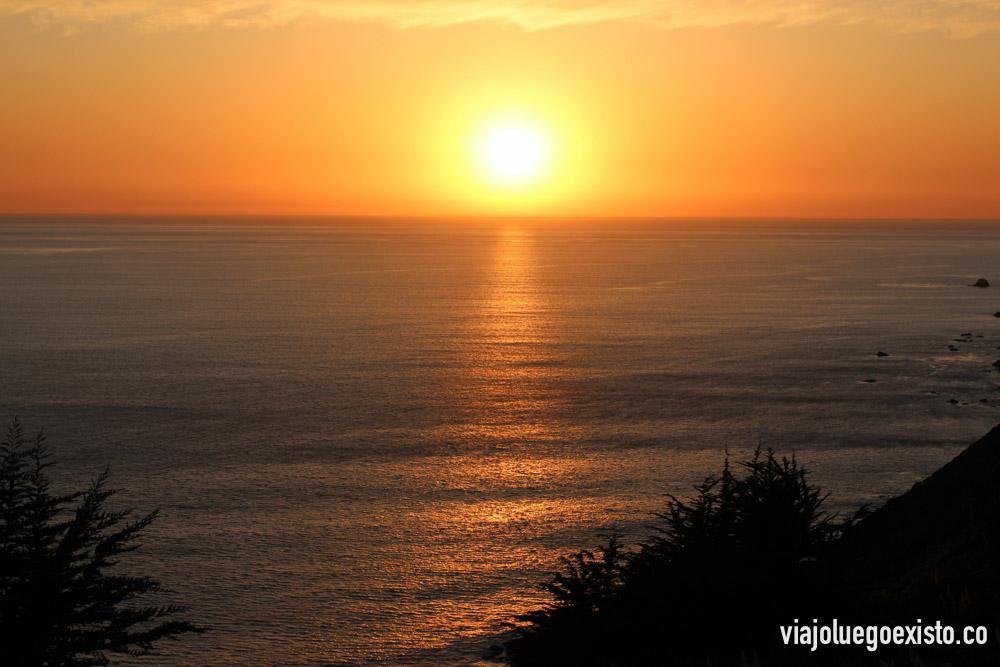 Puesta de sol en la Big Sur