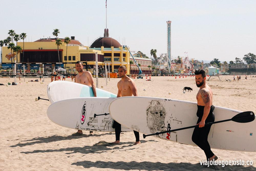 Paddle surf en Santa Cruz