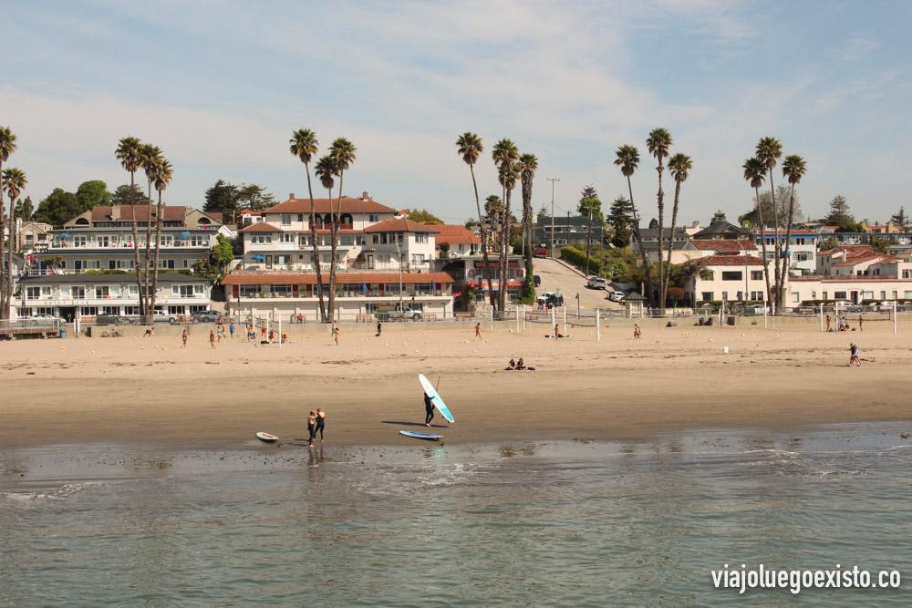 Playa de Santa Cruz, vista desde el muelle