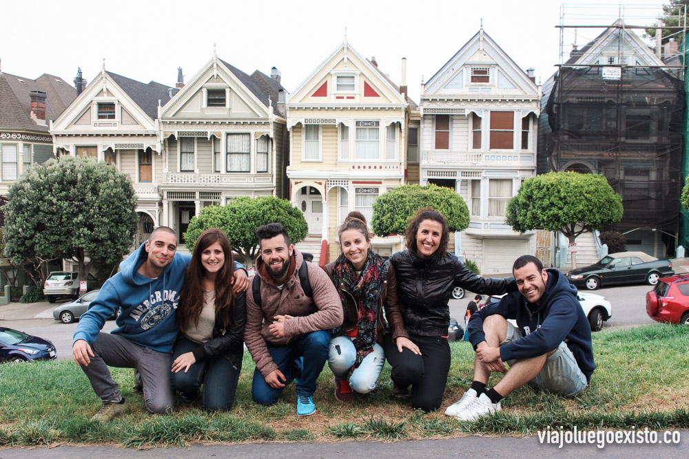 The Painted Ladies, casas victorianas en Alamo Square