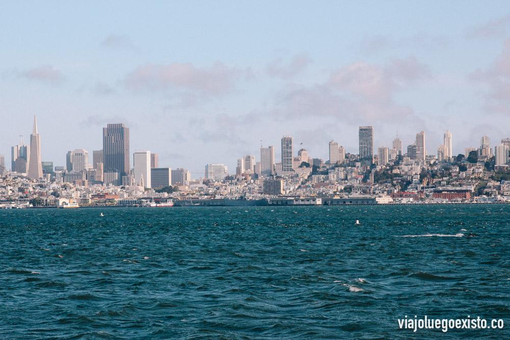 Vistas de la bahía de San Francisco, desde Alcatraz