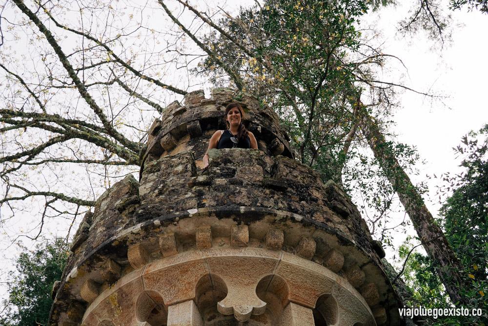 Tam como la princesa del castillo, en Quinta da Regaleira.