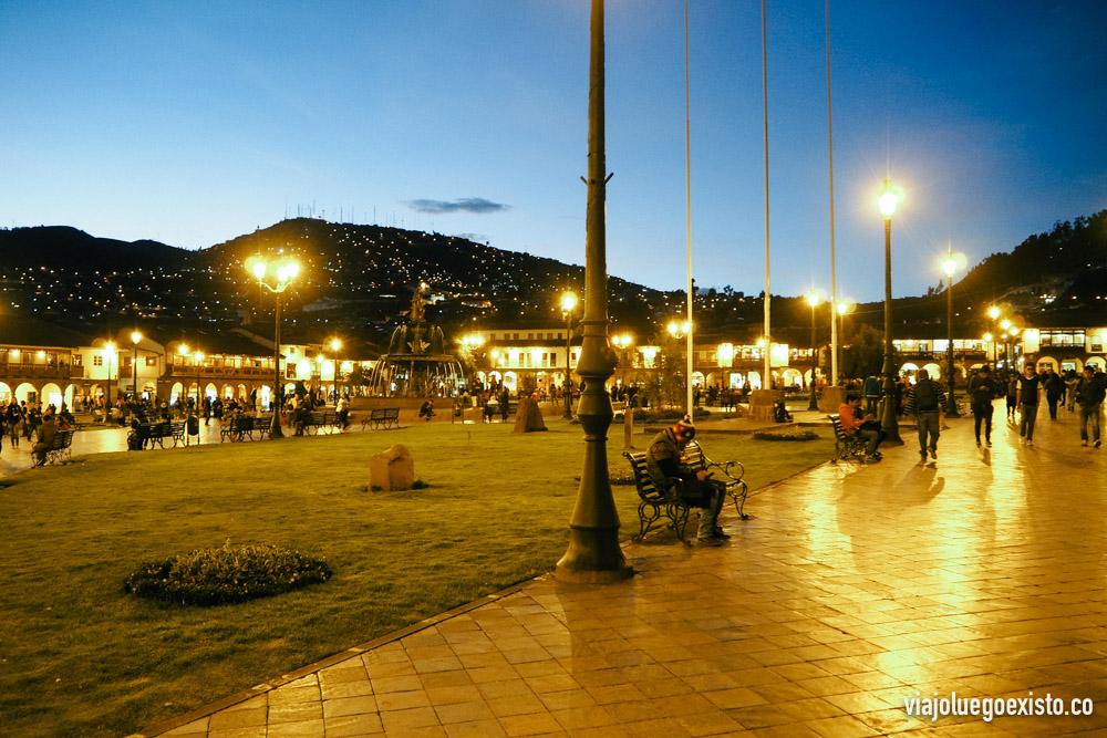 Plaza de Armas al atardecer
