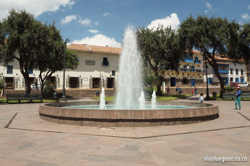 Plaza Regocijo, de donde suelen salir los free tours