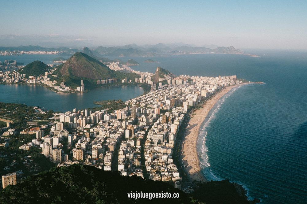 Vistas increíbles de Leblon e Ipanema, desde Morro Dois Irmãos.