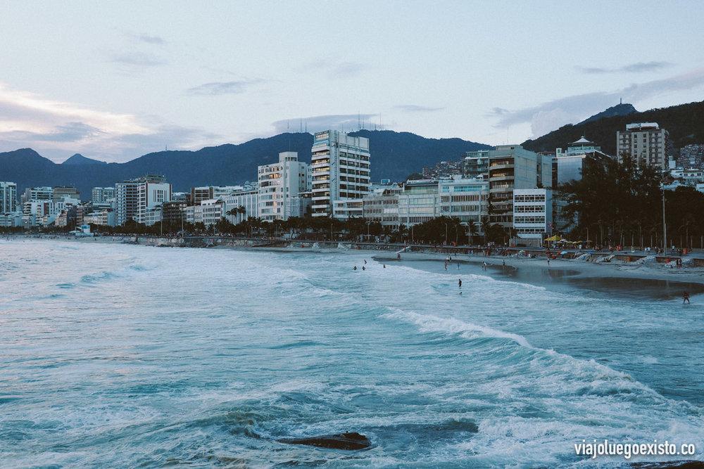 Vista de la playa de Ipanema desde Arpoador