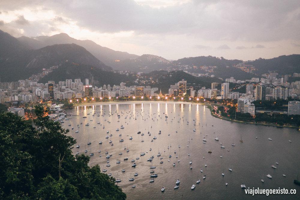 Vistas de Botafogo desde el Pan de Azúcar