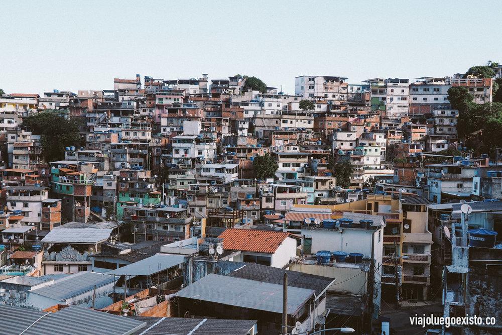 Vistas de la favela Vidigal