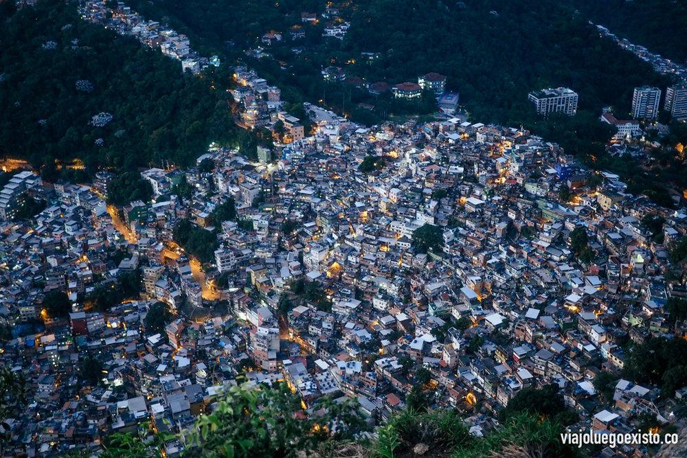 Vistas de la favela Rocinha
