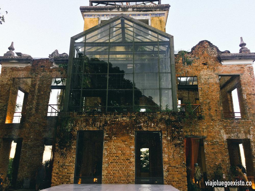 Edificio restaurado en Parque das Ruinas