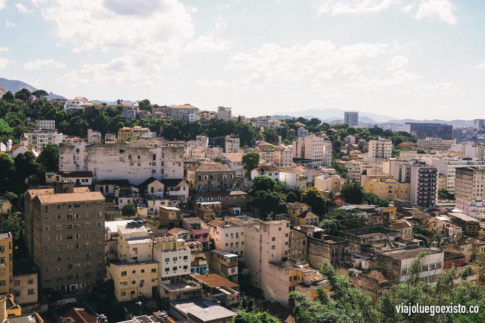 Vistas desde el Bondinho subiendo a Santa Teresa