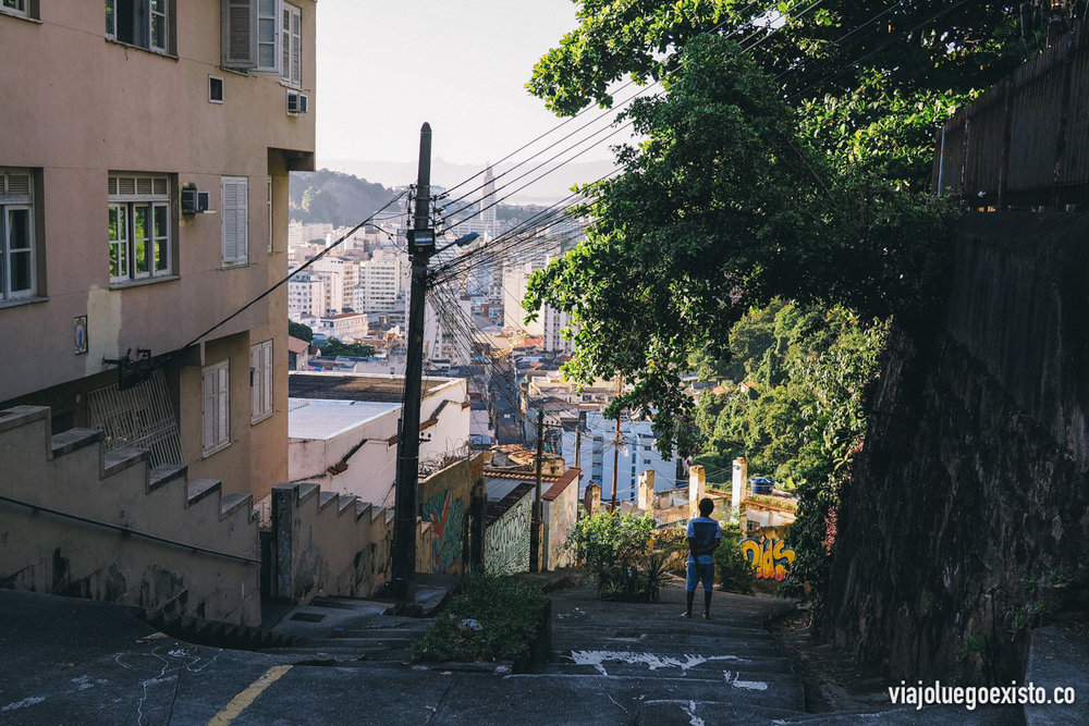 Calle de Santa Teresa, algunas como esta son muy empinadas