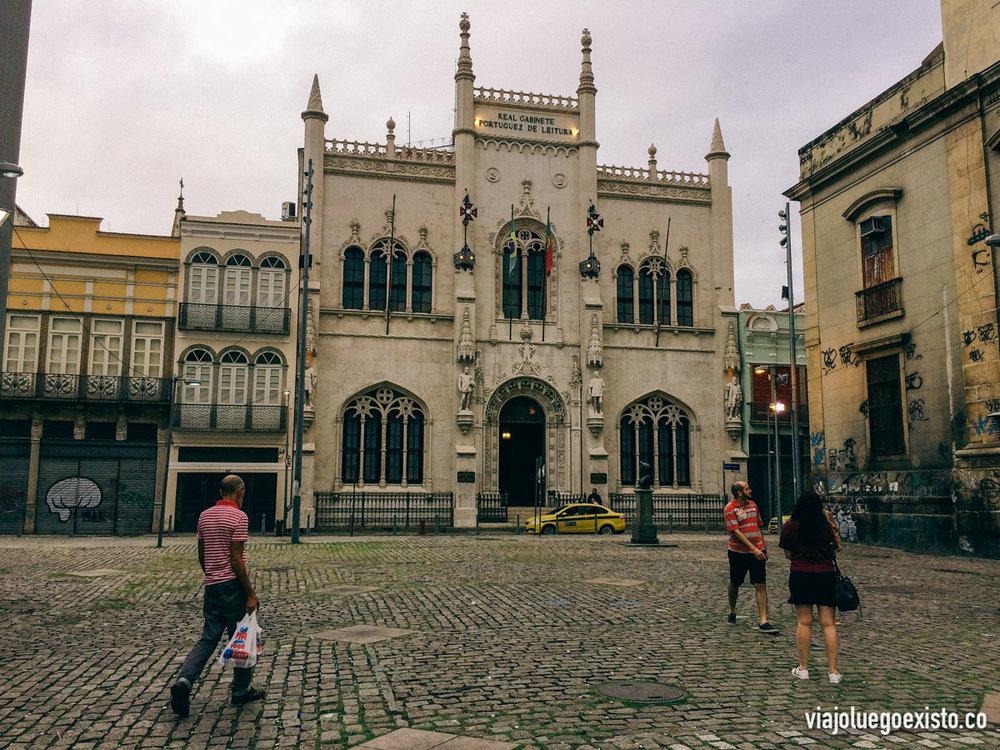 Real Gabinete Português de Leitura, de las bibliotecas más bonitas que recuerdo