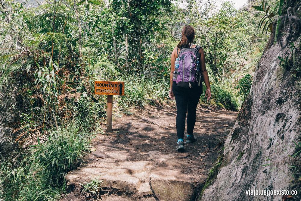 Camino a la cima del Waynapicchu, es una hora y media de subida