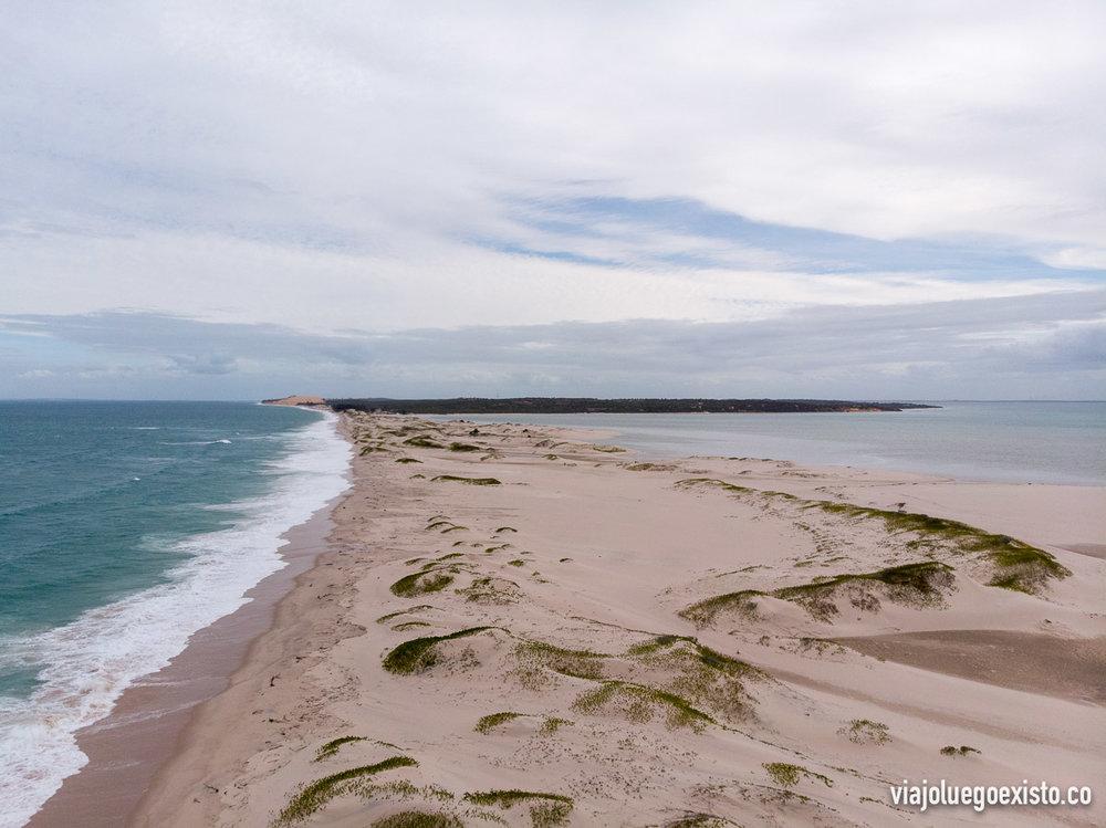 Vistas de la isla de Benguerra, que visitamos antes de volver a Vilanculos