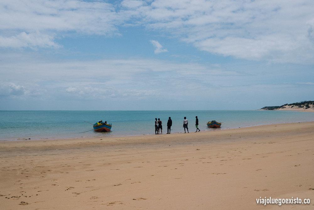 Esta es la playa donde paramos en la isla de Bazaruto
