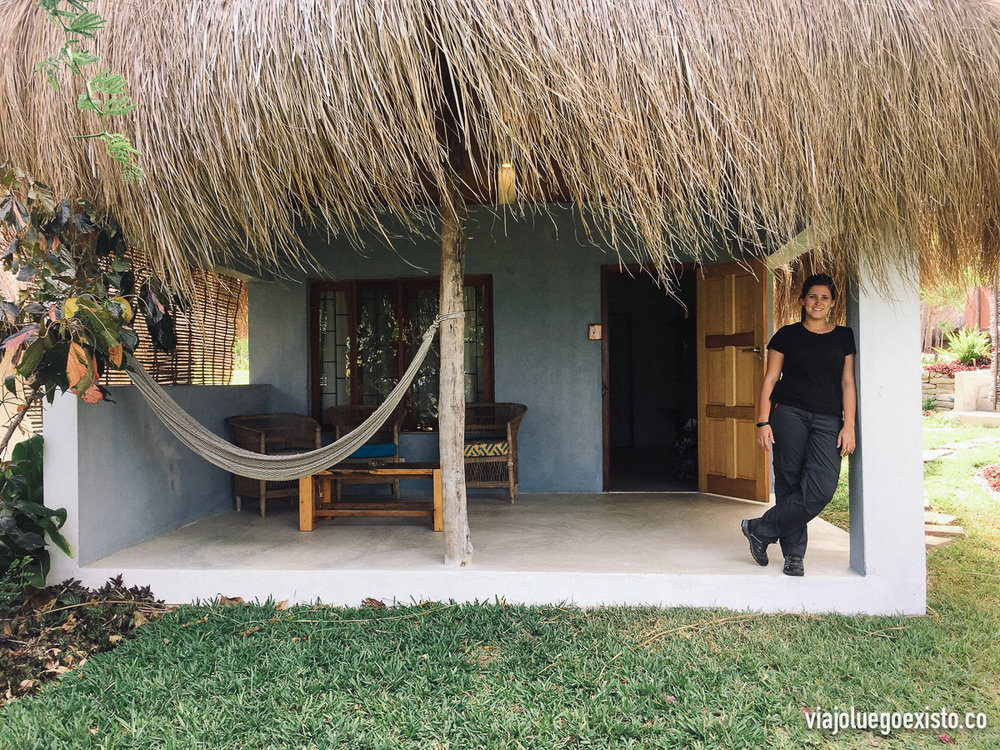 Nuestra cabaña en el Baobab Beach Resort