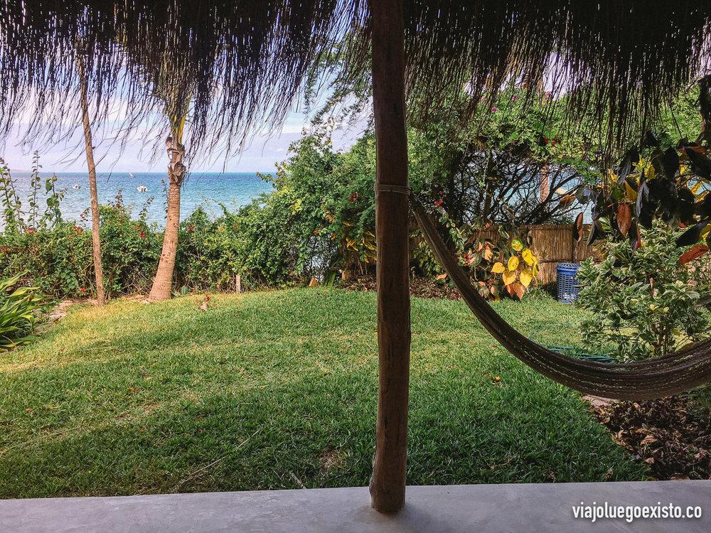 Vistas desde nuestro porche en el Baobab Beach Resort