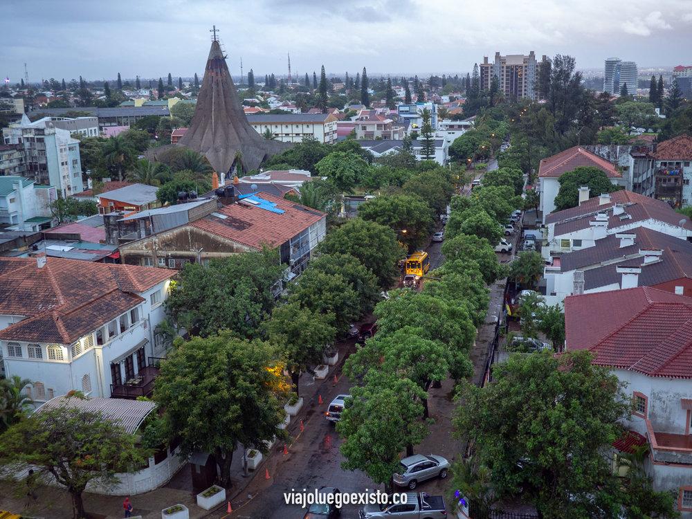 Vistas del distrito de Polana en Maputo.