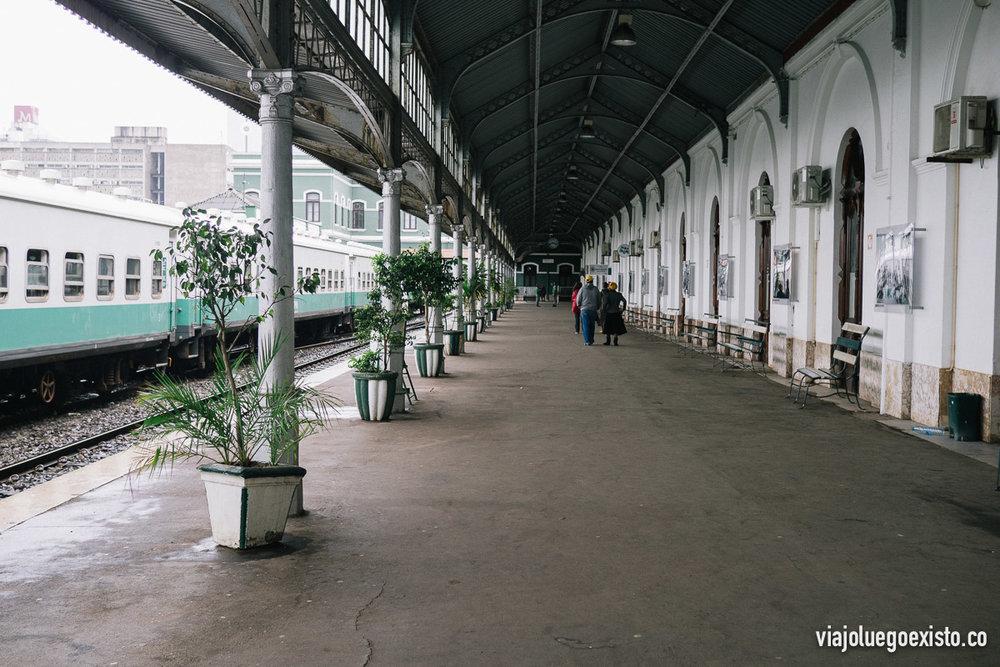 Andén de la Estación Central de Maputo