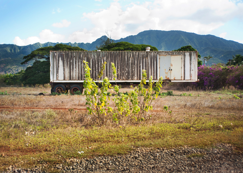 "Waialaua Sugar Mill    Archival Pigment Print, 27.5"" x 19.75""  2013"