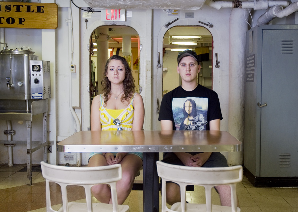 "Nicole & Nathan Blanton    Battleship Missouri Memorial,Dec. 2, 2010    Archival Pigment Print, 27.5"" x 19.5"""