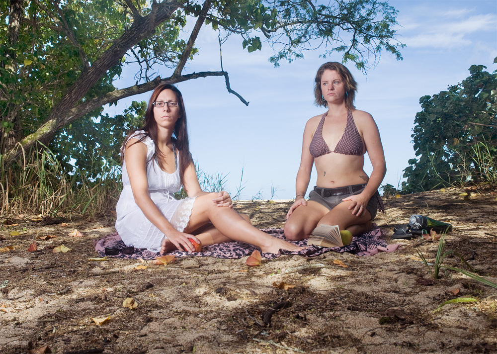 "Jen Rubin & Boz Schurr    Waimea Bay Beach Park,Oct. 14, 2010    Archival Pigment Print, 27.5"" x 19.5"""
