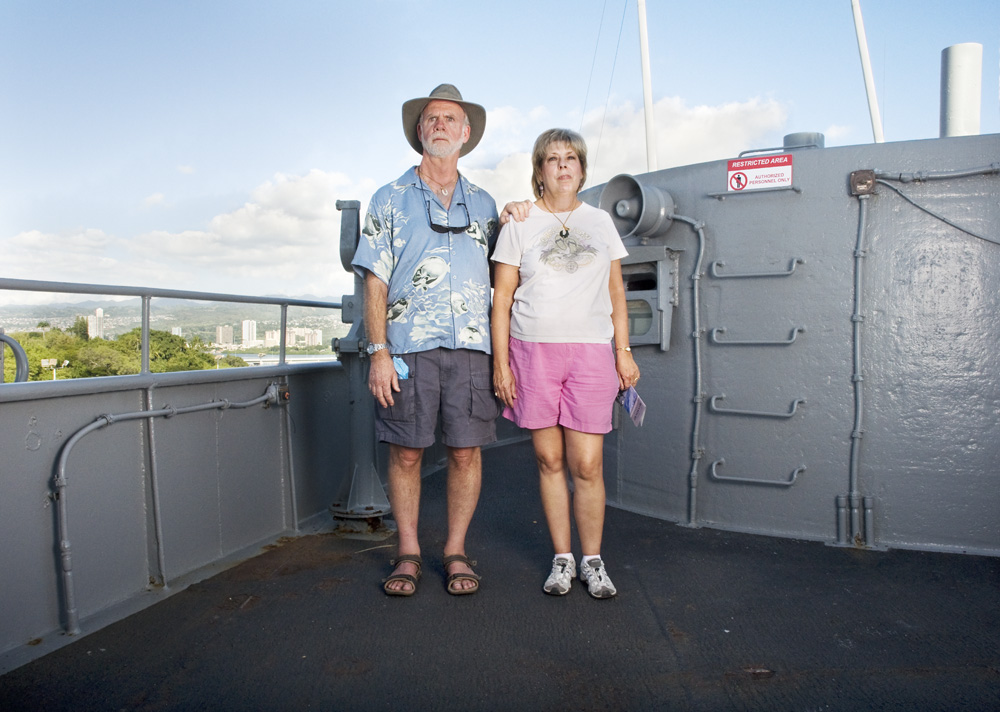 "George & Lynn Buchman    Battleship Missouri Memorial,Dec. 16, 2010    Archival Pigment Print, 27.5"" x 19.5"""