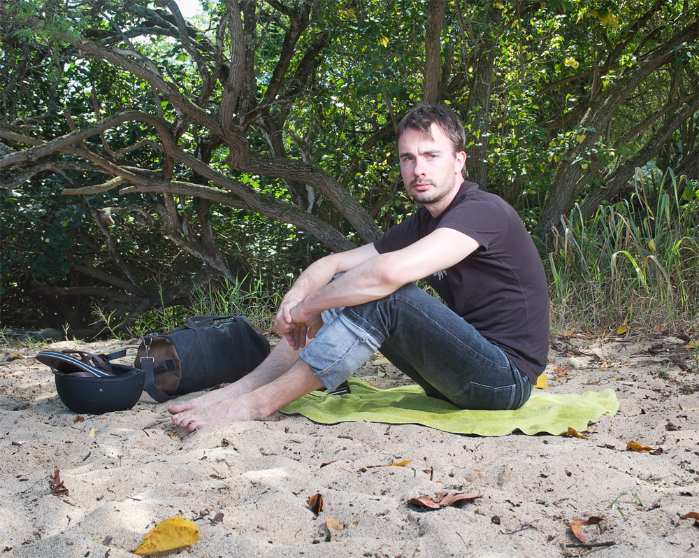"Matted Minet    Waimea Bay Beach Park,Oct. 14. 2010    Archival Pigment Print, 19.75"" x 15.75"""