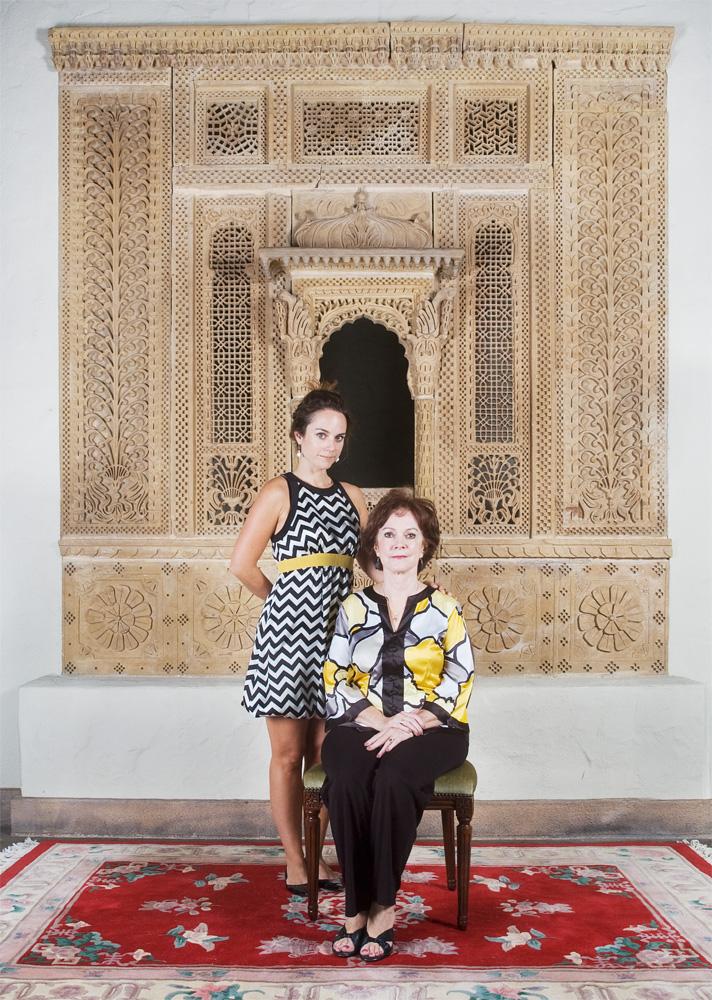 """Maren & Mimi Oom    Honolulu Academy of Arts,Feb. 26, 2010    Archival Pigment Print, 27.5"""" x 19.75"""""""