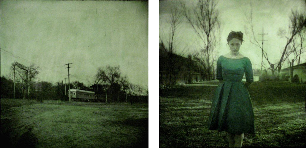 "Through a Glass, Darkly 1 & 2    2004  Hand-colored Silver Gelatin Print, 24""x 24"""