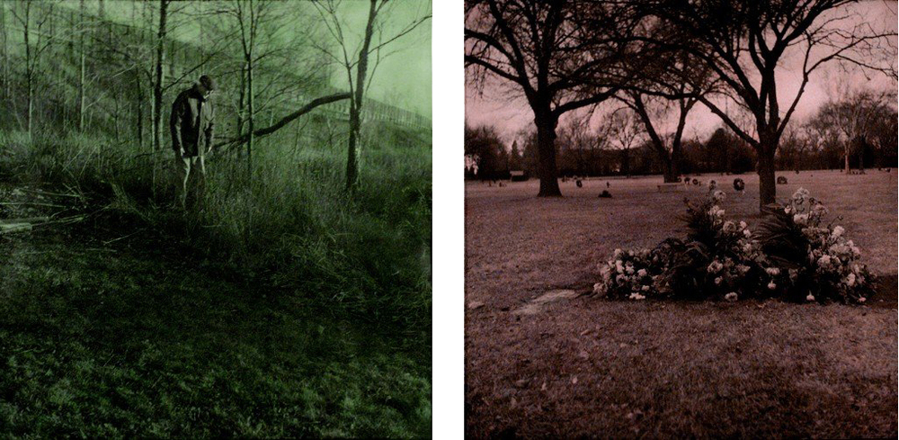 "Through a Glass, Darkly 3 & 4    2004  Hand-colored Silver Gelatin Print, 24""x 24"""
