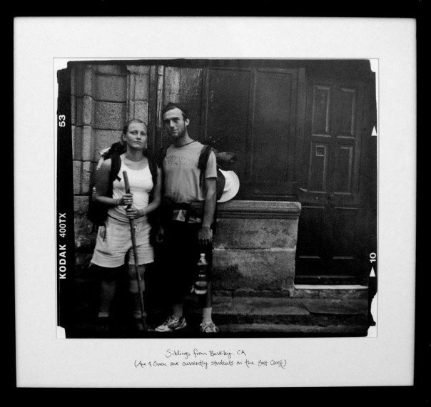 "Ana & Owen  (2005)   Siblings from Berkley, CA (Ana and Owen are currently students on the East Coast)   Silver Gelatin Print, 18""x 18"""