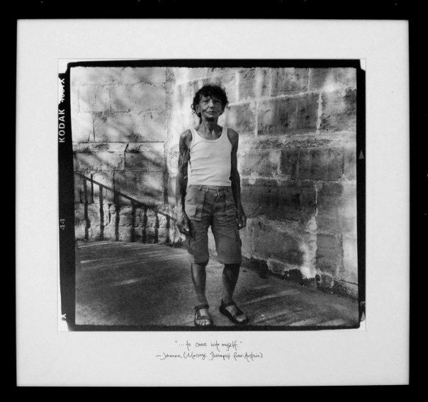 "Johana (2005)   ""...to come into myself."" -Johana (Massage Therapist from Austria)   Silver Gelatin Print, 18""x 18"""